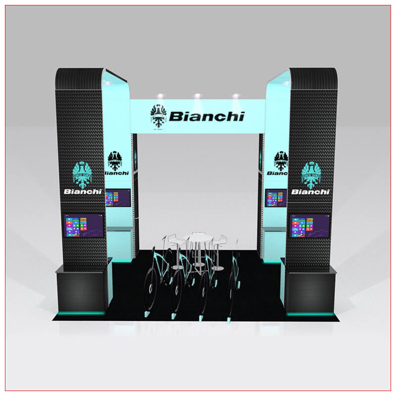 20x20 Trade Show Booth Rental Package 435 - Front View - LV Exhibit Rentals in Las Vegas