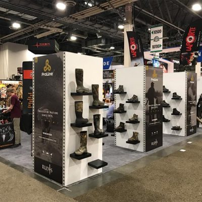 20x20 Trade Show Booth Rental Package 438 - LV Exhibit Rentals in Las Vegas