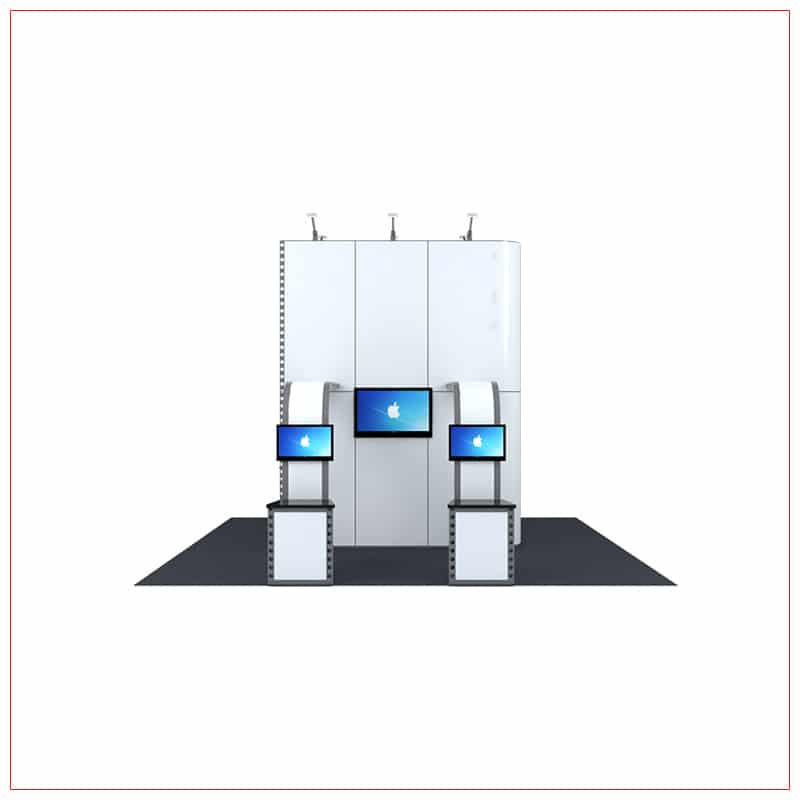 20x20 Trade Show Booth Rental Package 439 - Front View - LV Exhibit Rentals in Las Vegas