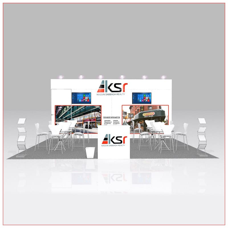 20x20 Trade Show Booth Rental Package 441 - Front View - LV Exhibit Rentals in Las Vegas