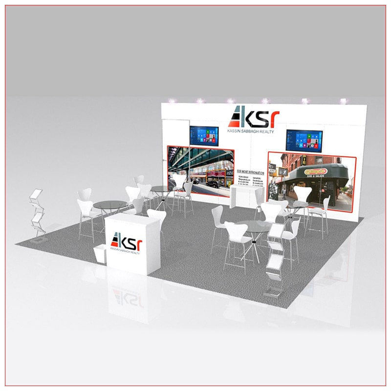 20x20 Trade Show Booth Rental Package 441 - LV Exhibit Rentals in Las Vegas