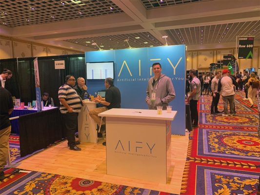 AIFY - 10x10 Trade Show Exhibit Rental Package 111 - Smiles by Design - LV Exhibit Rentals in Las Vegas