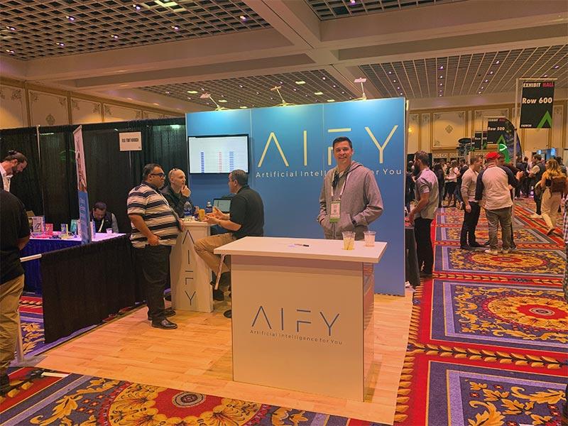 AIFY - 10x10 Trade Show Exhibit Rental Package 111 - Smiles by Design - LV Exhibit Rentals in Las Vegas
