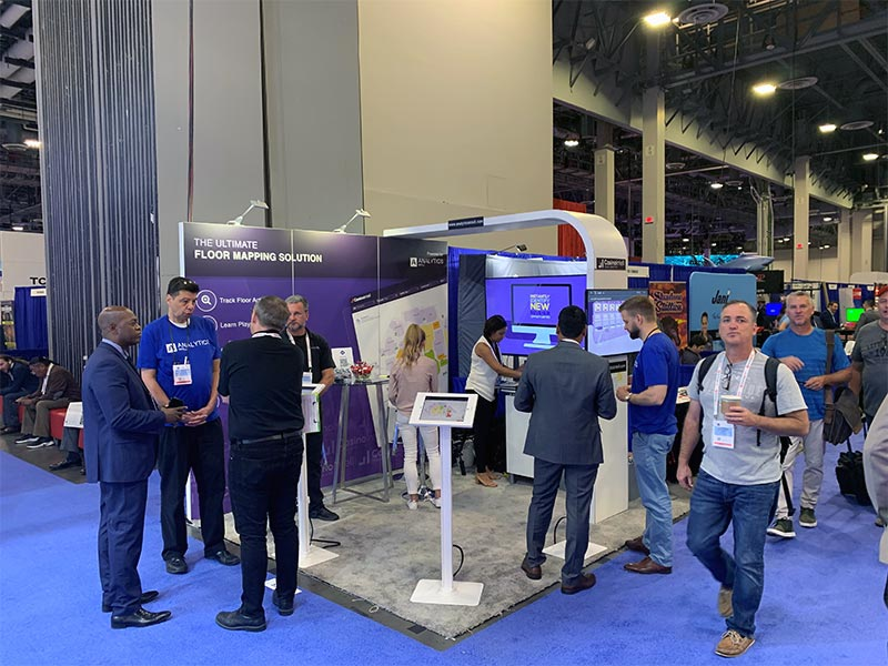 Analytics Intel - 10x10 Trade Show Booth Rental Package 100 - Angle View - LV Exhibit Rentals in Las Vegas