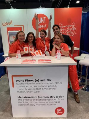 Aunt Flow - 10x10 Trade Show Exhibit Rental Package 120 Upgraded - LV Exhibit Rentals in Las Vegas