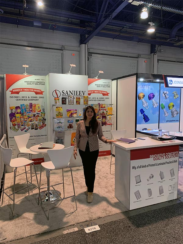 Sanjeev - 10x10 Trade Show Exhibit Rental Package 152 - Pack Expo 2019 - LV Exhibit Rentals in Las Vegas
