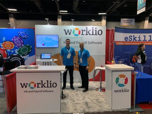 Worklio - 10x10 Trade Show Exhibit Rental Package 120 - LV Exhibit Rentals in Las Vegas