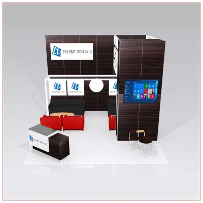 20x20 Trade Show Booth Rental Package 442 - Front View - LV Exhibit Rentals in Las Vegas