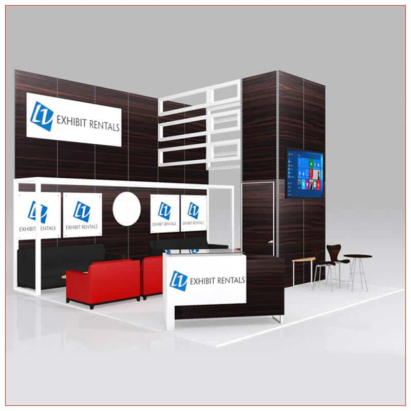 20x20 Trade Show Booth Rental Package 442 - LV Exhibit Rentals in Las Vegas
