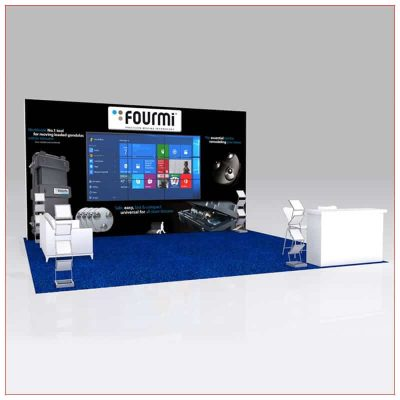 20x20 Trade Show Booth Rental Package 443 - LV Exhibit Rentals in Las Vegas