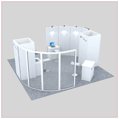 20x20 Trade Show Booth Rental Package 445 - Angle View 2 - LV Exhibit Rentals in Las Vegas