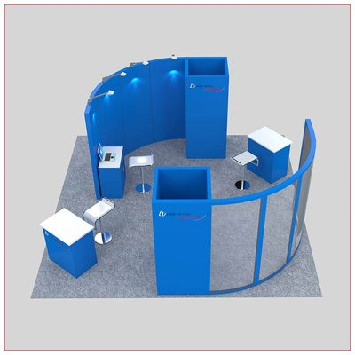 20x20 Trade Show Booth Rental Package 445 - Angle View - LV Exhibit Rentals in Las Vegas