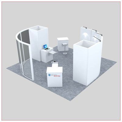 20x20 Trade Show Booth Rental Package 445 - Front View - LV Exhibit Rentals in Las Vegas