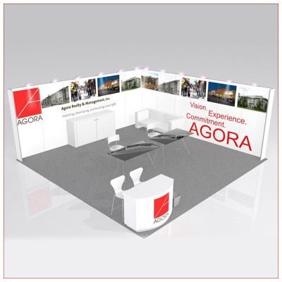 20x20 Trade Show Booth Rental Package 446 - LV Exhibit Rentals in Las Vegas