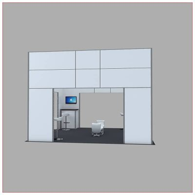 20x20 Trade Show Booth Rental Package 448 - Front View - LV Exhibit Rentals in Las Vegas