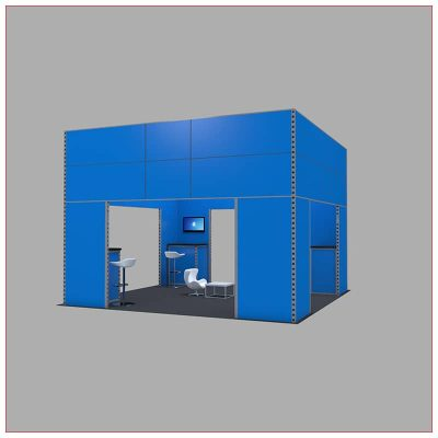20x20 Trade Show Booth Rental Package 448 - LV Exhibit Rentals in Las Vegas