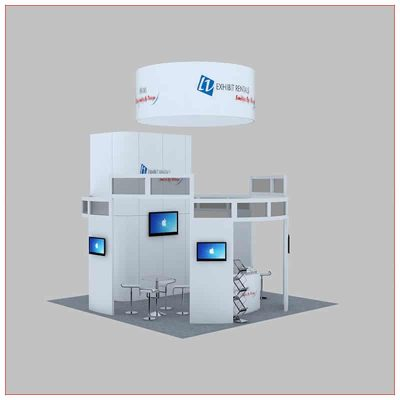 20x20 Trade Show Booth Rental Package 449 - Angle View 2 - LV Exhibit Rentals in Las Vegas