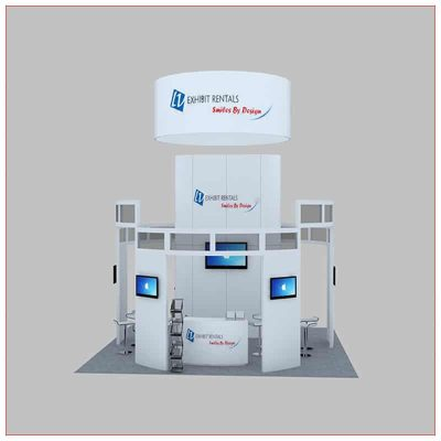20x20 Trade Show Booth Rental Package 449 - Front View - LV Exhibit Rentals in Las Vegas