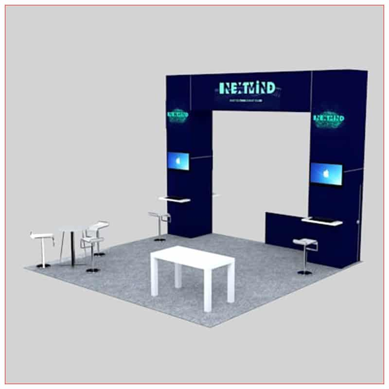 20x20 Trade Show Booth Rental Package 450 - Angle View 2 - LV Exhibit Rentals in Las Vegas