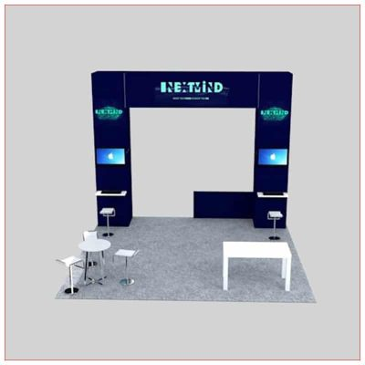 20x20 Trade Show Booth Rental Package 450 - Front View - LV Exhibit Rentals in Las Vegas