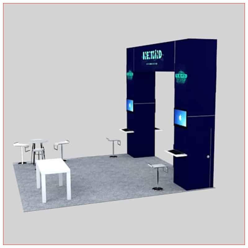 20x20 Trade Show Booth Rental Package 450 - LV Exhibit Rentals in Las Vegas