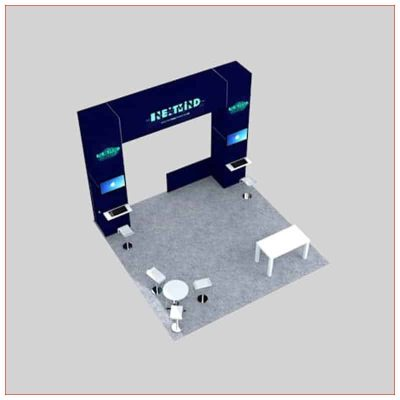 20x20 Trade Show Booth Rental Package 450 - Top-Down - LV Exhibit Rentals in Las Vegas