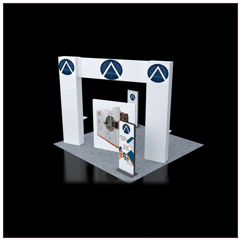 20x20 Trade Show Booth Rental Package 451 - Angle View 2 - LV Exhibit Rentals in Las Vegas