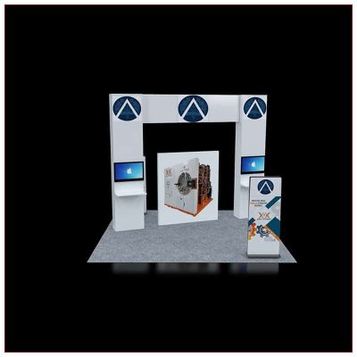 20x20 Trade Show Booth Rental Package 451 - Front View - LV Exhibit Rentals in Las Vegas