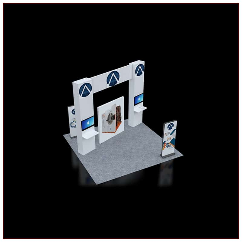 20x20 Trade Show Booth Rental Package 451 - LV Exhibit Rentals in Las Vegas