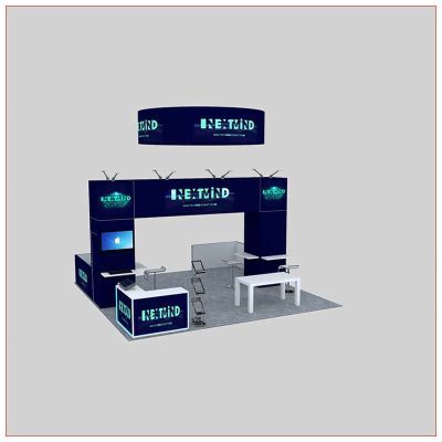 20x20 Trade Show Booth Rental Package 453 - LV Exhibit Rentals in Las Vegas