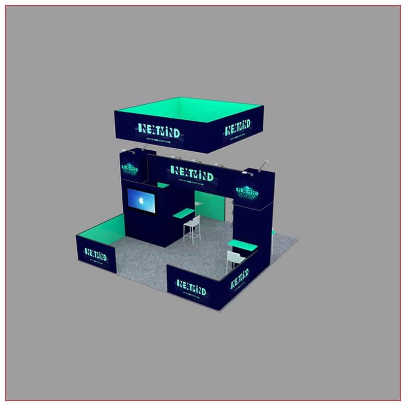 20x20 Trade Show Booth Rental Package 455 - LV Exhibit Rentals in Las Vegas
