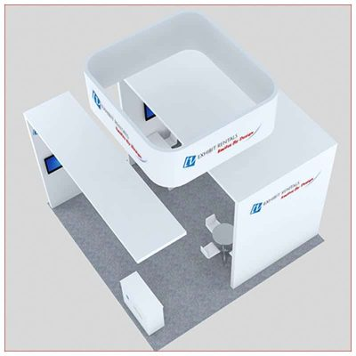 20x20 Trade Show Booth Rental Package 456 - Top-Down View - LV Exhibit Rentals in Las Vegas