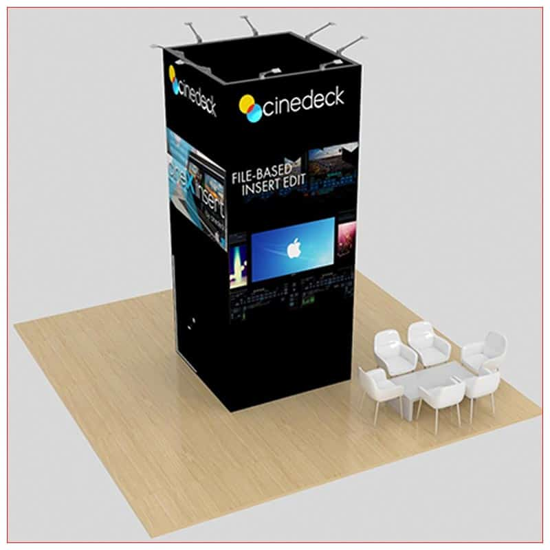 20x20 Trade Show Booth Rental Package 459 - Angle View - LV Exhibit Rentals in Las Vegas