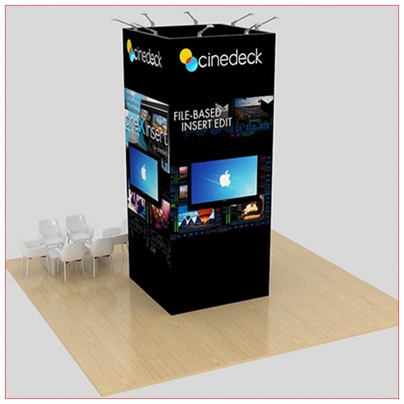 20x20 Trade Show Booth Rental Package 459 - Rear View - LV Exhibit Rentals in Las Vegas