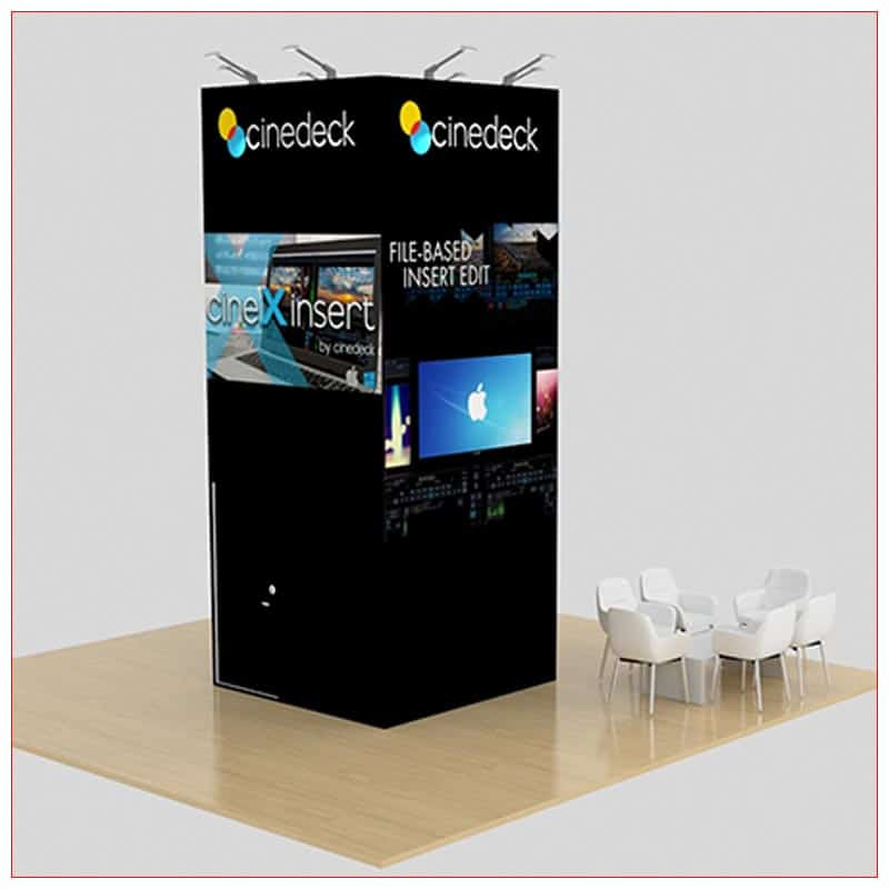 20x20 Trade Show Booth Rental Package 459 - Side View - LV Exhibit Rentals in Las Vegas