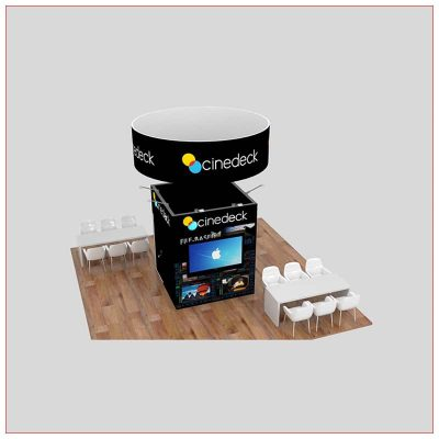 20x20 Trade Show Booth Rental Package 460 - Angle View 2 - LV Exhibit Rentals in Las Vegas