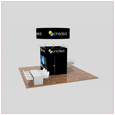 20x20 Trade Show Booth Rental Package 460 - Angle View - LV Exhibit Rentals in Las Vegas