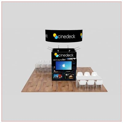 20x20 Trade Show Booth Rental Package 460 - Front View - LV Exhibit Rentals in Las Vegas