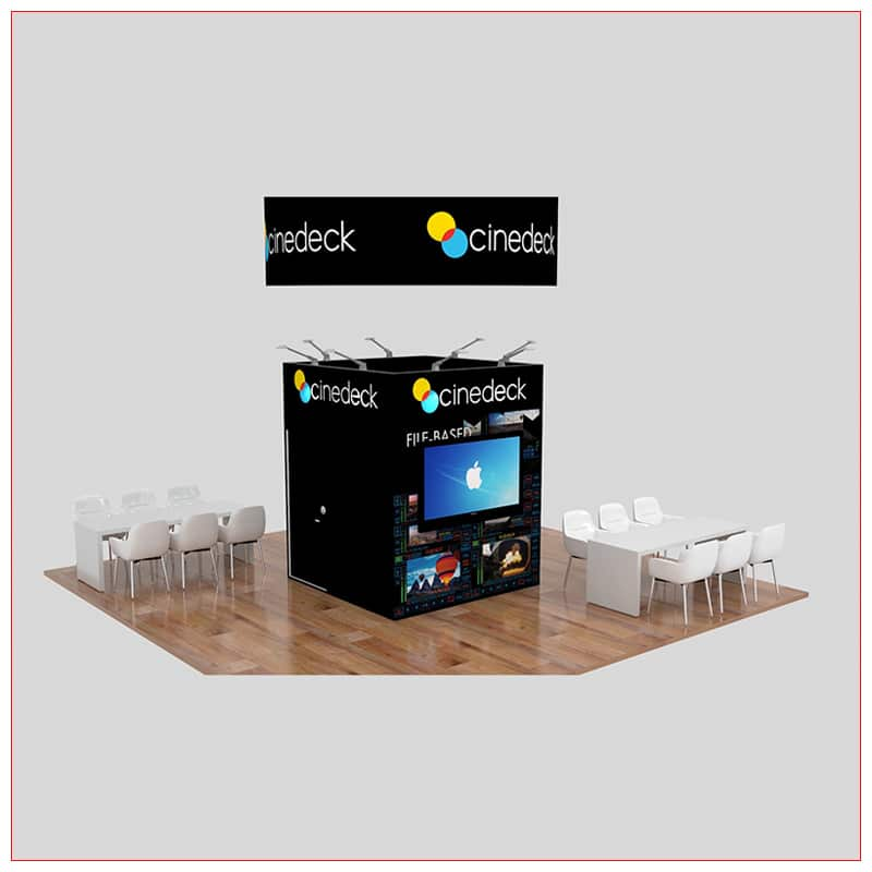 20x20 Trade Show Booth Rental Package 460 - LV Exhibit Rentals in Las Vegas