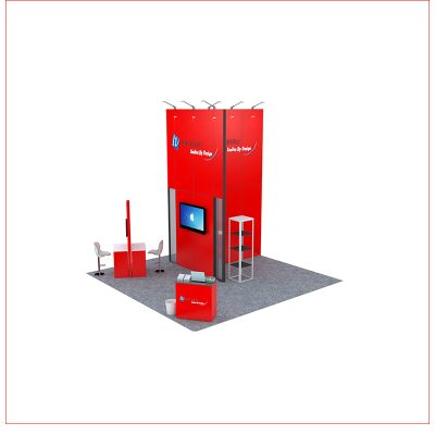 20x20 Trade Show Booth Rental Package 462 - Angle View 2 - LV Exhibit Rentals in Las Vegas