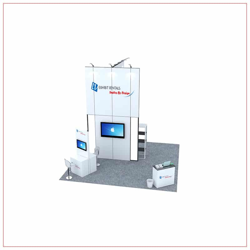 20x20 Trade Show Booth Rental Package 462 - Front View - LV Exhibit Rentals in Las Vegas