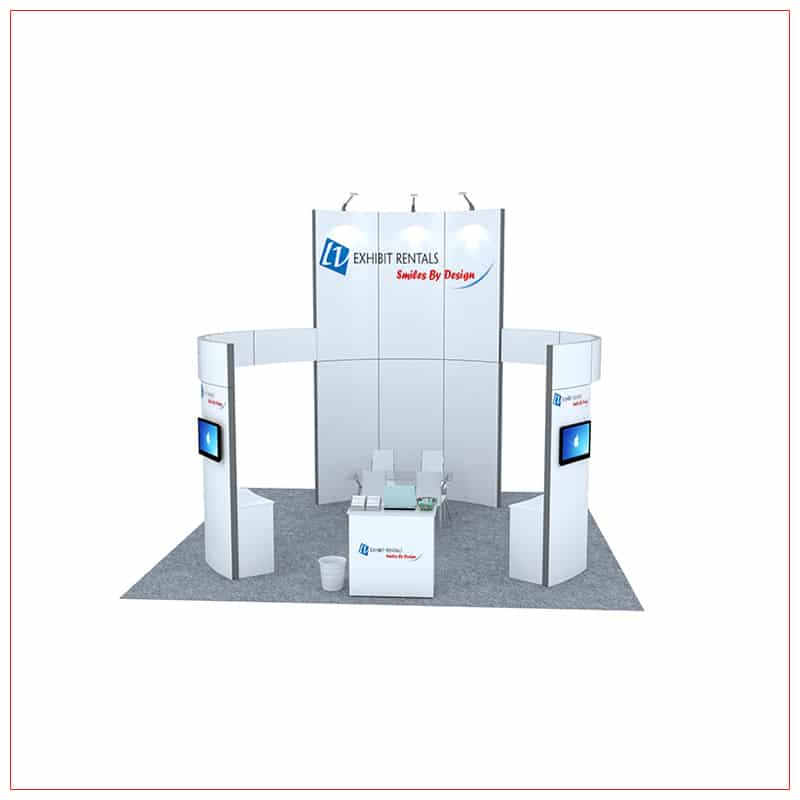 20x20 Trade Show Booth Rental Package 463 - Front View - LV Exhibit Rentals in Las Vegas