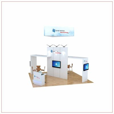20x20 Trade Show Booth Rental Package 466 - Front View - LV Exhibit Rentals in Las Vegas