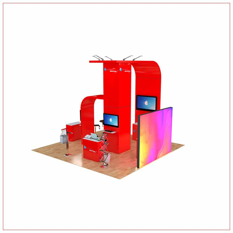 20x20 Trade Show Booth Rental Package 468 - Angle View 2 - LV Exhibit Rentals in Las Vegas