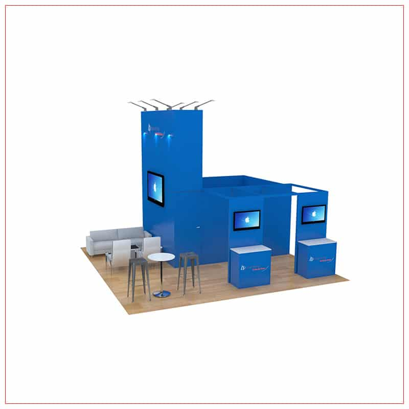20x20 Trade Show Booth Rental Package 470 - Front View - LV Exhibit Rentals in Las Vegas
