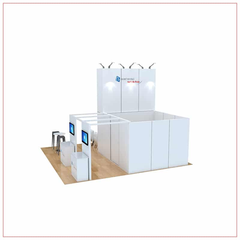 20x20 Trade Show Booth Rental Package 470 - LV Exhibit Rentals in Las Vegas