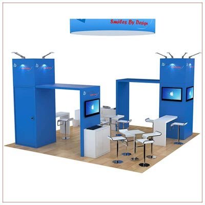 20x20 Trade Show Booth Rental Package 473 - Angle View - LV Exhibit Rentals in Las Vegas