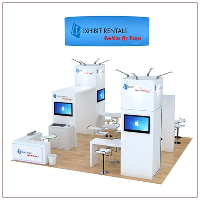 20x20 Trade Show Booth Rental Package 473 - Front View - LV Exhibit Rentals in Las Vegas