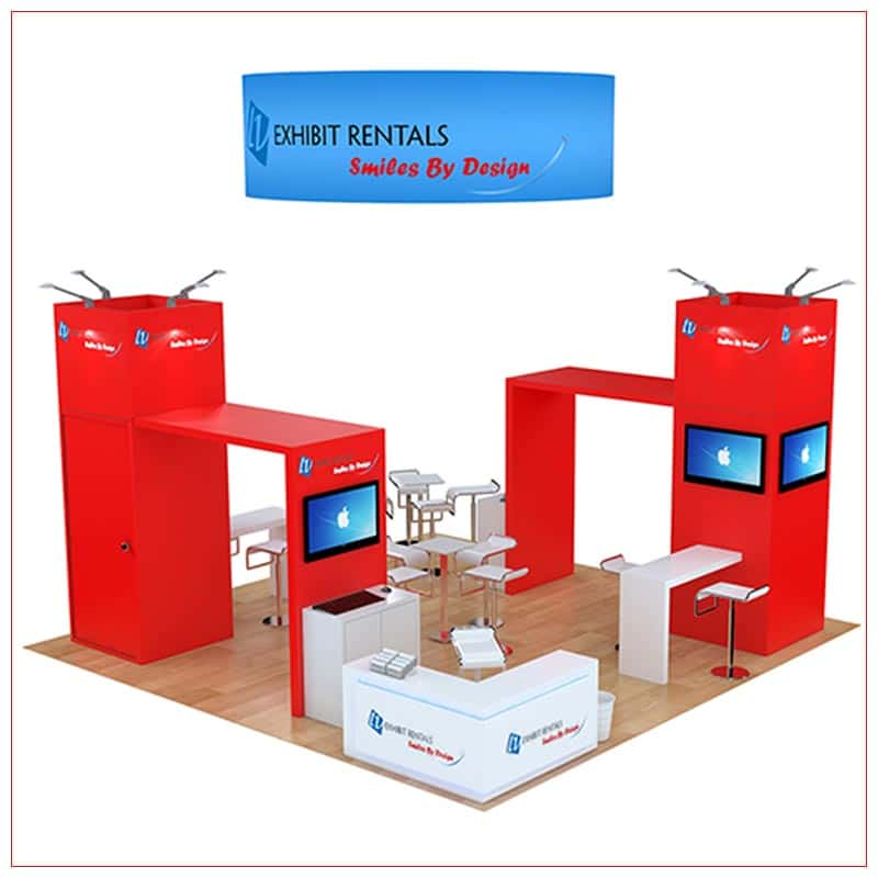 20x20 Trade Show Booth Rental Package 473 - LV Exhibit Rentals in Las Vegas