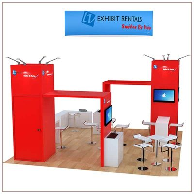 20x20 Trade Show Booth Rental Package 473 - Side View - LV Exhibit Rentals in Las Vegas